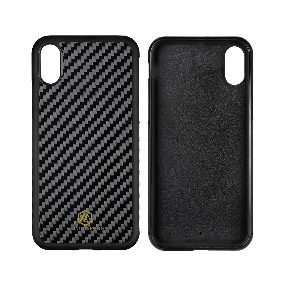2018 Newest Anti Side Carbon Fiber Case for iPhone xs