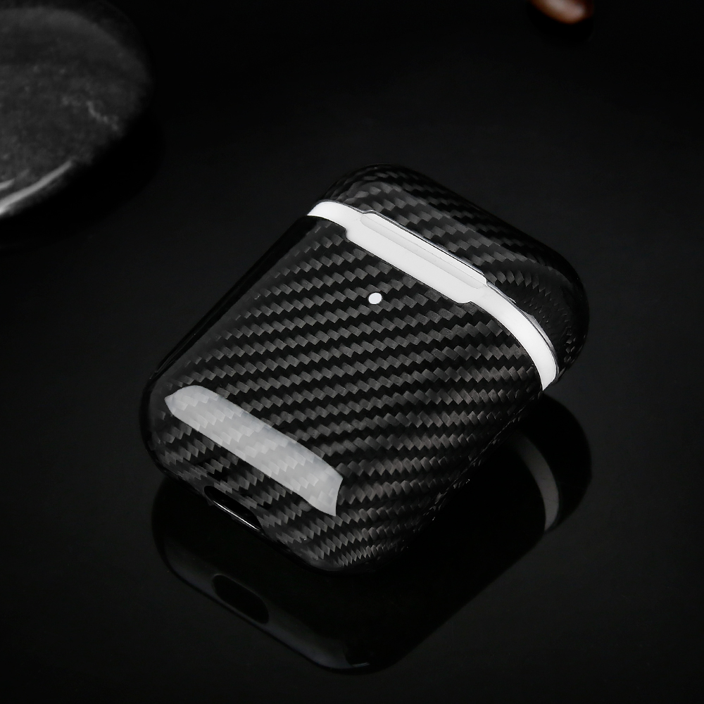 Glossy Carbon Fiber Case for New Airpods
