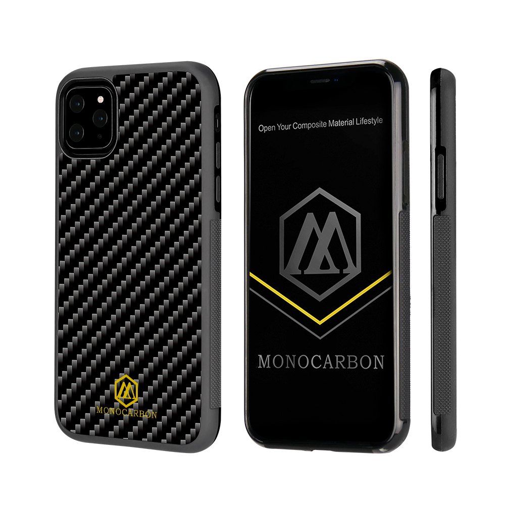 3kTwill Carbon Fiber TPU Case Anti Slip for iPhone 11