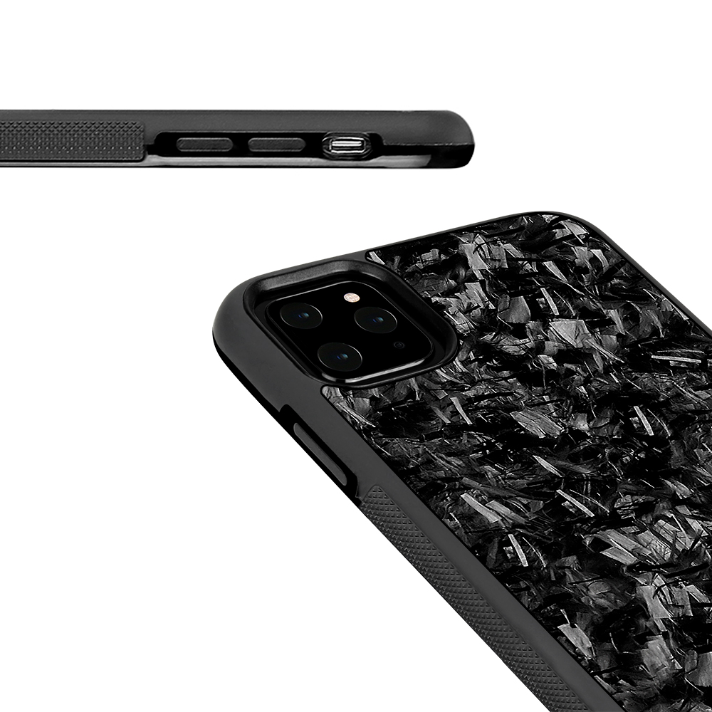 Luxury Forged Carbon Fiber TPU Case Anti Slip for iPhone 11